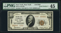 Low Serial Number 2 New York, NY - $10 1929 Ty. 2 National Bank of Yorkville Ch. # 12965 PMG Choice Extremely Fine 45...