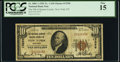 National Bank Notes:New York, New York, NY - $10 1929 Ty. 1 The National Bank of Queens County Ch. # 13296 PCGS Fine 15.. ...