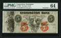 Obsoletes By State:Connecticut, Stonington, CT- Stonington Bank $5 18__ G40b Remainder PMG Choice Uncirculated 64.. ...
