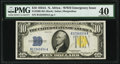 Fr. 2309 $10 1934A North Africa Silver Certificate. PMG Extremely Fine 40