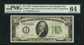 Small Size:Federal Reserve Notes, Fr. 2005-J $10 1934 Dark Green Seal Mule Federal Reserve Note. PMG Choice Uncirculated 64.. ...