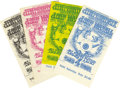 Music Memorabilia:Tickets, Jimi Hendrix Experience Ticket Group, BG-105 (Bill Graham, 1968)The classic Rick Griffin Flying Eyeball design was featured...(Total: 4 )