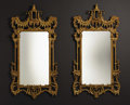 Furniture : Continental, A Pair of Giltwood Chinese Chippendale-style Mirrors. Unknownmaker, Italian, made for the LaBarge Mirror Co.. Twentieth c...(Total: 2 )