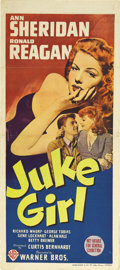 "Movie Posters:Bad Girl, Juke Girl (Warner Brothers, 1942). Australian Daybill (13"" X 30"").Ann Sheridan had become one of the pinup girls for Americ..."