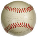 "Autographs:Baseballs, 1961 Pepper Martin Single Signed ""Stat"" Baseball. Another very scarce single that's almost assuredly unique in this incredi..."