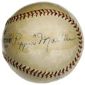 Autographs:Baseballs, Early 1930's St. Louis Cardinals Greats Signed Baseball with DeanBrothers. One smart fan knew talent when he saw it, and s...