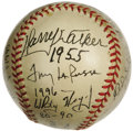 Autographs:Baseballs, St. Louis Cardinals Managers Multi-Signed Baseball. Almost certainly the only one of its kind, this ONL (Frick) ball repres...