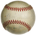 Autographs:Baseballs, 1938 Brooklyn Dodgers Team Signed Baseball with Babe Ruth. In a sadend to the Babe's career in baseball, he came to learn ...