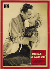 "In a Lonely Place (Columbia, 1950). Italian Photobustas (3) (18.5"" X 26""). Humphrey Bogart and film noir femme..."