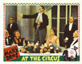 "Movie Posters:Comedy, At The Circus (MGM, 1939). Lobby Cards (2) (11"" X 14""). Hollywood'sgolden year of 1939 found the Marx Brothers ""At the Circ... (Total:2 Items)"