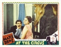 """Movie Posters:Comedy, At The Circus (MGM, 1939). Lobby Cards (2) (11"""" X 14""""). GrouchoMarx, as J. Cheever Loophole, tries to woo Margaret Dumont (...(Total: 2 Items)"""