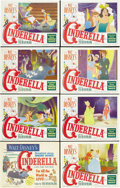 "Movie Posters:Animated, Cinderella (RKO, 1950). Lobby Card Set of 8 (11"" X 14""). Afterseveral years of producing features composed of multiple stor...(Total: 8 Items)"