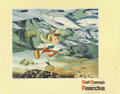 "Movie Posters:Animated, Pinocchio (RKO, 1940). Lobby Card (11"" X 14""). This underwaterscene card has pinholes in the corners and a few stains in th..."