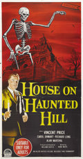 "Movie Posters:Horror, House on Haunted Hill (Allied Artists, 1959). Australian ThreeSheet (41"" X 81""). Vincent Price is superb as a sinister host..."