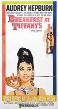 """Movie Posters:Romance, Breakfast at Tiffany's (Paramount, 1961). Three Sheet (41"""" X 81""""). This is Blake Edwards's charming romantic comedy about so..."""