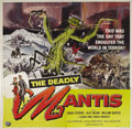 "Movie Posters:Science Fiction, The Deadly Mantis (Universal International, 1957). Six Sheet (81"" X81""). Poster designer giant Reynold Brown created this f..."