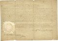 """Autographs:U.S. Presidents, William Henry Harrison- Early Indiana Territorial Document Signed """"Willm Henry Harrison"""", one page, 11"""" x 7.75"""", Vincenn..."""