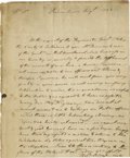 "Autographs:Statesmen, Theodoric Bland Historic Autograph Letter Signed, 1 p. 6.6"" x 8.5"",Philadelphia, April 11, 1783, to Brigadier General Georg..."
