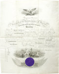 Autographs:U.S. Presidents, Benjamin Harrison Document Signed as President, one page on vellum, 17 x 19 inches, Washington, January 13, 1890. An ornatel...