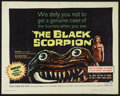 "Movie Posters:Science Fiction, The Black Scorpion (Warner Brothers, 1957). Half Sheet (22"" X 28"").Sci-Fi Horror. Starring Richard Denning, Mara Corday, Ca..."