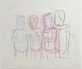 """Animation Art:Production Drawing, """"King of the Hill"""" - Hank, Peggy, and Bobby Hill, Dale Gribble,Boomhauer, and Bill Dauterive Animation Production Drawing Ori...(Total: 6)"""