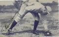 Autographs:Sports Cards, 1928 Rogers Hornsby Signed Exhibit Card. While the date of the application of a 10/10 black fountain pen signature from thi...