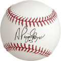 Autographs:Baseballs, Albert Pujols Single Signed Baseball. Baseball's current most-feared hitter is putting up the kind of numbers that make him...
