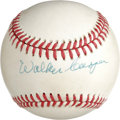 Autographs:Baseballs, Walker Cooper Single Signed Baseball. Perennial All-Star and memberof three NL pennant-winning St. Louis Cardinals squads,...