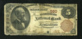 National Bank Notes:Pennsylvania, Harrisburg, PA - $5 1882 Brown Back Fr. 467 The Harrisburg NB Ch. # 580. This is an example of the $5 Brown Back stacked...