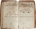 "Books:Non-fiction, Phenomenal Eighteenth Century Hand-Illustrated Schoolbook. A 126 page hand-bound arithmetic schoolbook, 1779-1780, folio (8""..."