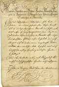 """Autographs:Non-American, Maria Theresa of Austria Document Signed """"Maria Theresa"""" asempress, two pages in German, 9"""" x 13.5"""", January 12, 1755, ..."""