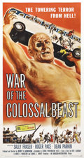 "Movie Posters:Science Fiction, War of the Colossal Beast (American International, 1958). ThreeSheet (41"" X 81""). This film was AIP's sequel to, and attemp..."