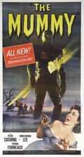 """Movie Posters:Horror, The Mummy (Universal International, 1959). Three Sheet (41"""" X 81"""").As Hammer Studios progressed further into re-making all ..."""