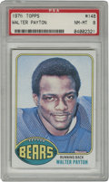 "Football Cards:Singles (1970-Now), 1976 Topps Walter Payton #148 PSA NM-MT 8. Official rookie offeringfrom the man known simply as ""Sweetness"" seen here from..."