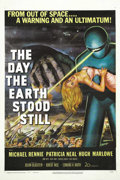 "Movie Posters:Science Fiction, The Day the Earth Stood Still (20th Century Fox, 1951). One Sheet(27"" X 41""). Based on the story ""Farewell to the Master"" b..."