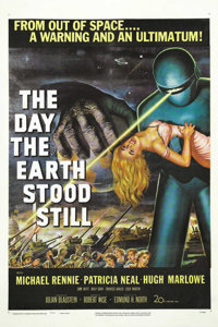 """The Day the Earth Stood Still (20th Century Fox, 1951). One Sheet (27"""" X 41""""). Based on the story """"Farewe..."""