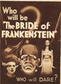 "Movie Posters:Horror, The Bride of Frankenstein (Universal, 1935). Herald (7"" X 9.5"").James Whale's classic horror film ""Frankenstein"" has been c..."