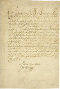 "Autographs:Non-American, Joseph I of Germany Document Signed ""Joseph"" as king, onepage in German, 7.75"" x 11.5"", October 17, 1699, n.p. Joseph I..."