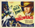 "Movie Posters:Western, The Throwback (Universal, 1935). Title Lobby Card (11"" X 14"") and Lobby Card (11"" X 14""). Buck Jones returns home and has to... (Total: 2 Items)"