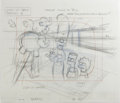 "Animation Art:Production Drawing, ""The Simpsons"" - Homer, Marge, Lisa, Bart and Maggie Simpson, andSpringfield Residents Animation Drawing Original Art, Group ...(Total: 5)"