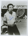 Autographs:Others, Arthur Ashe Signed Photograph. Civil Rights activist Arthur Ashebroke tennis' color barrier when he became the first Afric...
