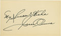 Autographs:Others, Jesse Owens Signed Index Card. Lauded for his bravery in standingup to the Nazi-run 1936 Olympiad held in Berlin, American...