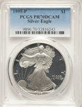 1995-P $1 Silver Eagle PR70 Deep Cameo PCGS. PCGS Population: (1684). NGC Census: (1889). CDN: $200 Whsle. Bid for NGC/P...