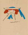 Works on Paper, Ludwig Bemelmans (American, 1898-1962). Madeline. Gouache on board. 5-1/2 x 7-1/2 inches (14.0 x 19.1 cm) (image). Signe...