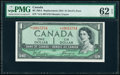 "World Currency, Canada Bank of Canada $1 1954 Pick 66b BC-29bA ""Devil's Face"" Replacement PMG Uncirculated 62 EPQ.. ..."