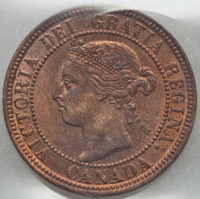 Canada: Victoria Cent 1898-H MS64 Red ICCS