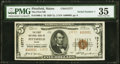 National Bank Notes:Maine, Pittsfield, ME - $5 1929 Ty. 2 The First National Bank Ch. # 13777 PMG Choice Very Fine 35.. ...