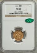 1852 $2 1/2 AU58 NGC. CAC. NGC Census: (328/615). PCGS Population: (148/362). CDN: $350 Whsle. Bid for NGC/PCGS AU58. Mi...