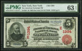 New York, NY - $5 1902 Red Seal Fr. 588 The American Exchange National Bank Ch. # (E)1394 PMG Choice Un