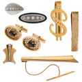 Estate Jewelry:Lots, Diamond, Multi-Stone, Gold Accessories. ... (Total: 7 Items)